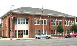 Front view of the outside of the Police Department