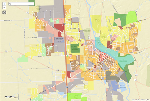 Troy Zoning Map